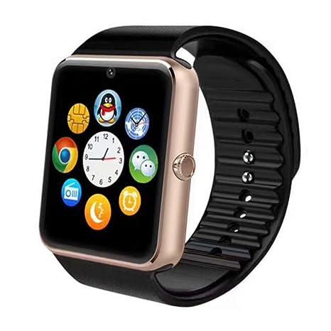 Samgu Smartwatches, Reloj Inteligente Android con Ranura para Tarjeta SIM,Pulsera Actividad Inteligente para