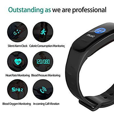 DAWO Fitness Tracker, Color Screen Activity Tracker with Heart Rate Monitor Watch, IP67 Waterproof Fitness Watch with Calorie Counter Pedometer Sleep Blood Pressure Monitor for Kids Women Men