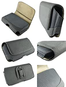 Mstechcorp - Premium Leather Pouch Carrying Case With Belt Clip / Belt Loops Holster - Motorola Moto G 2nd Gen Case (2014 Released) (BELT CLIP POUCH)