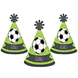 GOAAAL! - Soccer - Mini Cone Baby Shower or Birthday Party Hats - Small Little Party Hats - Set of 10