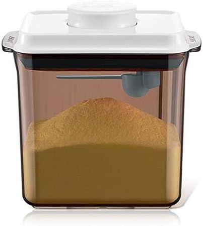 Bo/îte de Pot de Lait Anti-UV herm/étique pour b/éb/é Formule de Conservation Portable Contenant de Lait pour Tout-Petit Enfant,Brown,L Milk Powder Dispensers Distributeur de Lait en Poudre