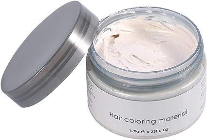 Filfeel - Tinte de cabello, cera (6 colores), mujer, hombre, peinado, desechable, modelo