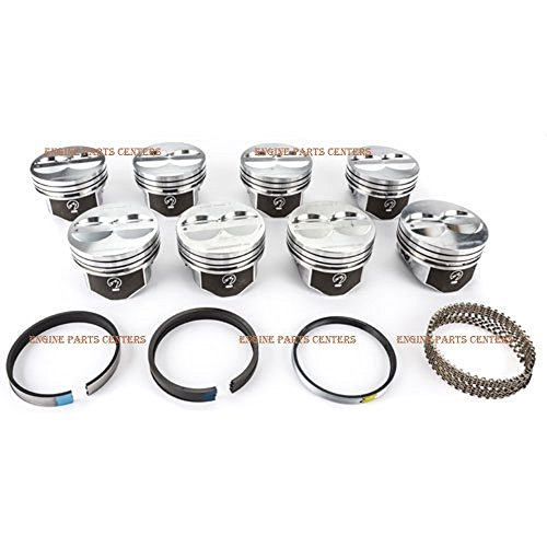Speed Pro Hyper Pistons and CAST Rings compatible with SBC Chevrolet Chevy small block 350 SB 5.7L (Bore 4.030