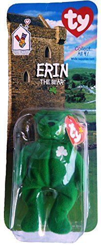 Image Unavailable. Image not available for. Color  Erin Irish Bear - McDonald s  Ty Teenie Beanie MIP - 1999 ... b8caff68f596