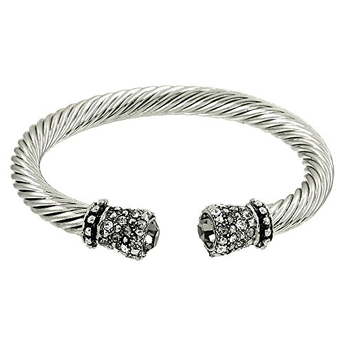 crystal-rhinestone-cable-wire-cuff-bracelet-black-diamond
