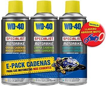 WD40 Motorbike Pack Mantenimiento de Cadenas + Regalo Llavero Moto: Amazon.es: Coche y moto