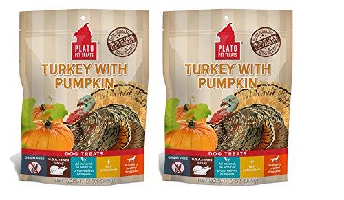 - Plato Dog Treats - Turkey with Pumpkin- 12 oz (2 Pack)