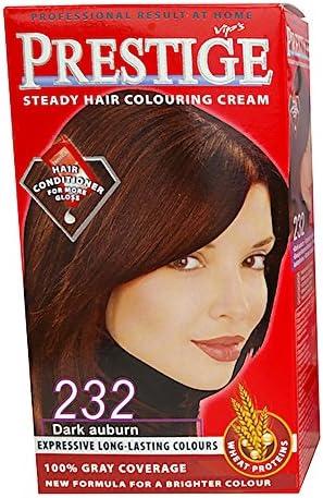 Vips prestige crema colorante para el cabello, color castaño oscuro 232