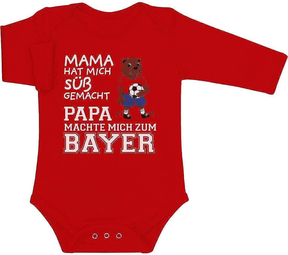 Shirtgeil Mama hat Mich s/ü/ß gemacht Papa machte Mich zum Bayer Baby Langarm Body