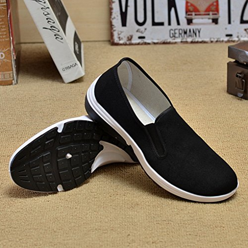 Aircee Men Chinese Traditional Old Beijing Shoes Kung Fu Tai Chi Rubber Sole Shoes Black 2-black E3YEZC
