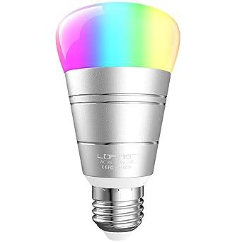 Bombilla Inteligente, LOFTer Inteligente WiFi E27 RGB 7W Bombilla, Trabajo con Echo Alexa /