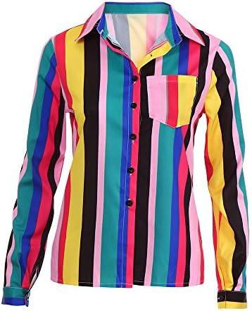 YOUBan Mujer Camisa de Manga Larga Oficina de Trabajo Blusa de Rayas Blusas sin Mangas Chicas Sexy Juventud: Amazon.es: Ropa y accesorios