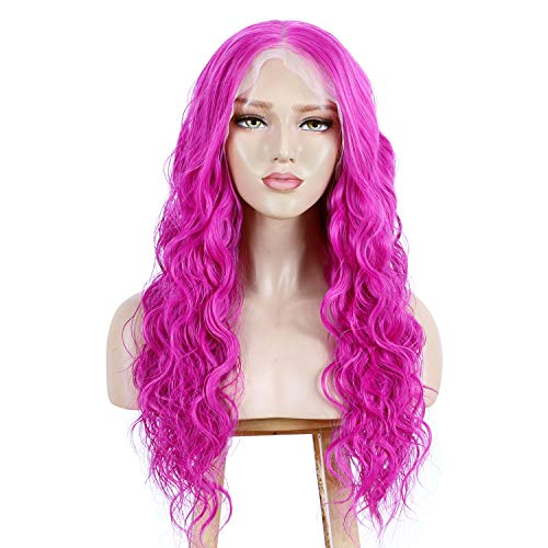 ALICE 13x6 Lace Front Rose Pink Wig, Hot Pink 22