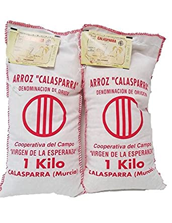 Calasparra Arroz (Paella Arroz) 2 bolsas, 4,4 libras: Amazon ...