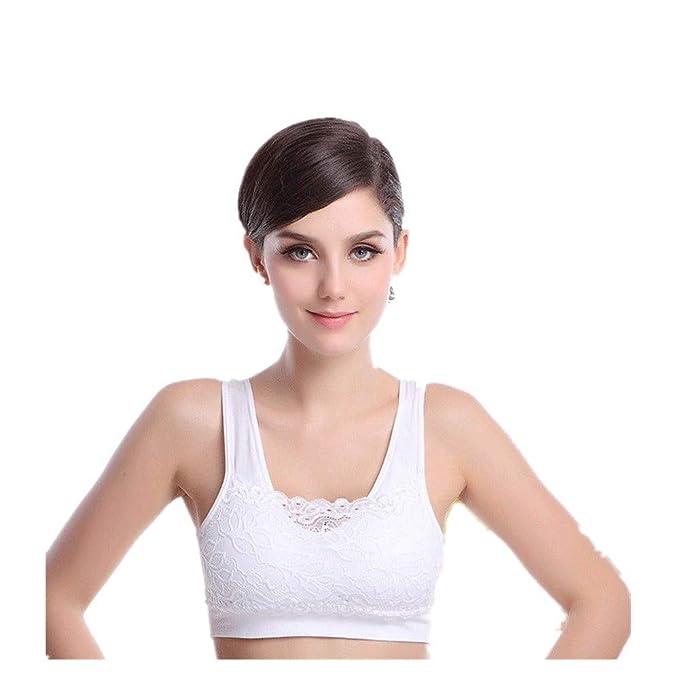 dou616 Señoras Sujetador Sports Fitness Yoga Chalecos Sujetador sin Sujetador de Encaje de Acero: Amazon.es: Ropa y accesorios