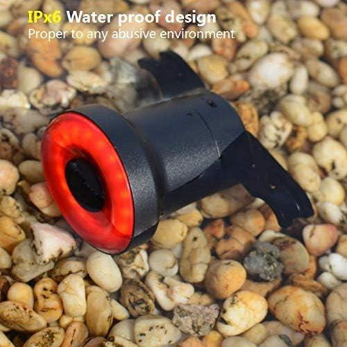 Gyratedream Fahrrad R/ücklicht Auto Start//Stopp Bremse Erkennung Wasserdichtes Fahrrad Smart Bremslicht USB Wiederaufladbare LED Fahrrad R/ücklicht 1PCS
