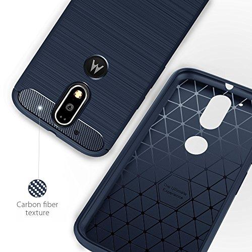 Funda Motorola Moto G4/G4 plus, Simpeak Funda Moto g4/g4 plus carcasas Moto g4/g4 plus funda cases Suave TPU Anti deslizamiento (5,5 Pulgadas), Azul Azul