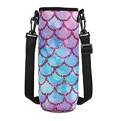 MELANIE'S POWER Water Bottle Carrier 17oz/25oz/34oz Wine Tea Bottle Sleeve Holder Sling Insulated Outdoor Sports Camping Travel Cross-Body Shoulder Bag Case Pouch Cover(M(for 25oz bottle) Mermaid): Kitchen & Dining