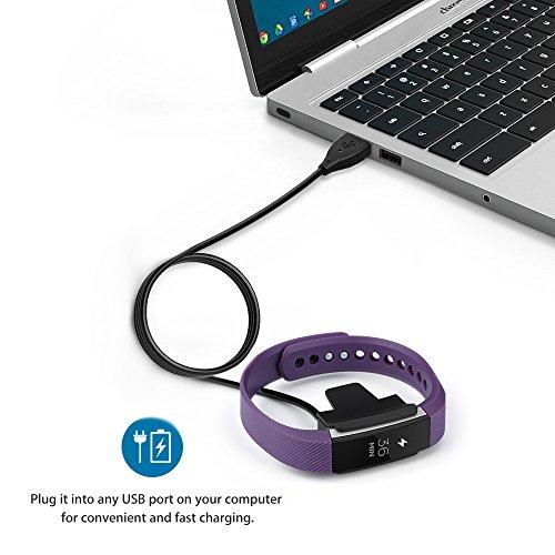 Cablor Charger for Fitbit Alta ,2PCS 1m Replacement USB Charging Charger Cables for Fitbit Alta Band Wireless Activity Bracelet