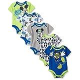 Disney Baby Mickey 5 Pack Bodysuits, Multi/Blue, 12-18 Months