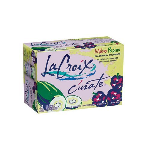 La Croix Curate Mure Pepino (Blackberry Cucumber) 12 Oz Tall Can Sparkling Water ( 8 Pack )
