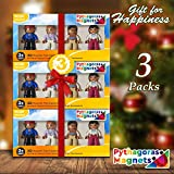 Magnetic Figures Set of 4 – Community Toy People Magnetic Tiles Expansion Pack for Boys and Girls – Pilot, Teacher, Lawyer, Coach Educational STEM Toys Add on Sets for Magnetic Blocks