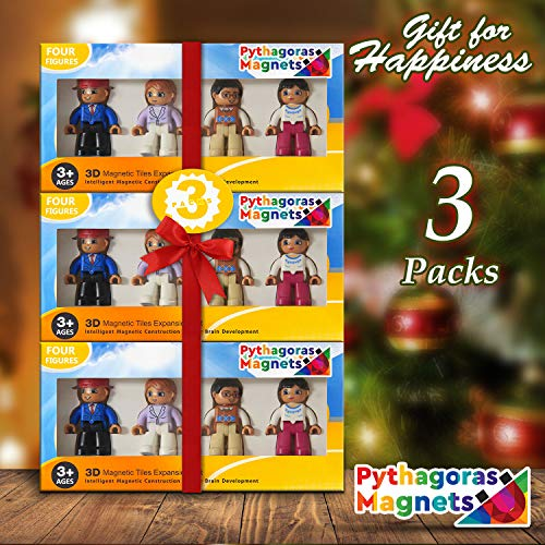 Magnetic Figures Set of 4 – Community Toy People Magnetic Tiles Expansion Pack for Boys and Girls – Pilot, Teacher, Lawyer, Coach Educational STEM Toys Add on Sets for Magnetic Blocks by Pythagoras Magnets (Image #6)