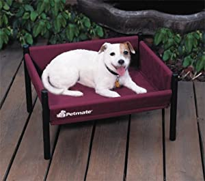 petmate durabed elevated pet bed small burgundy