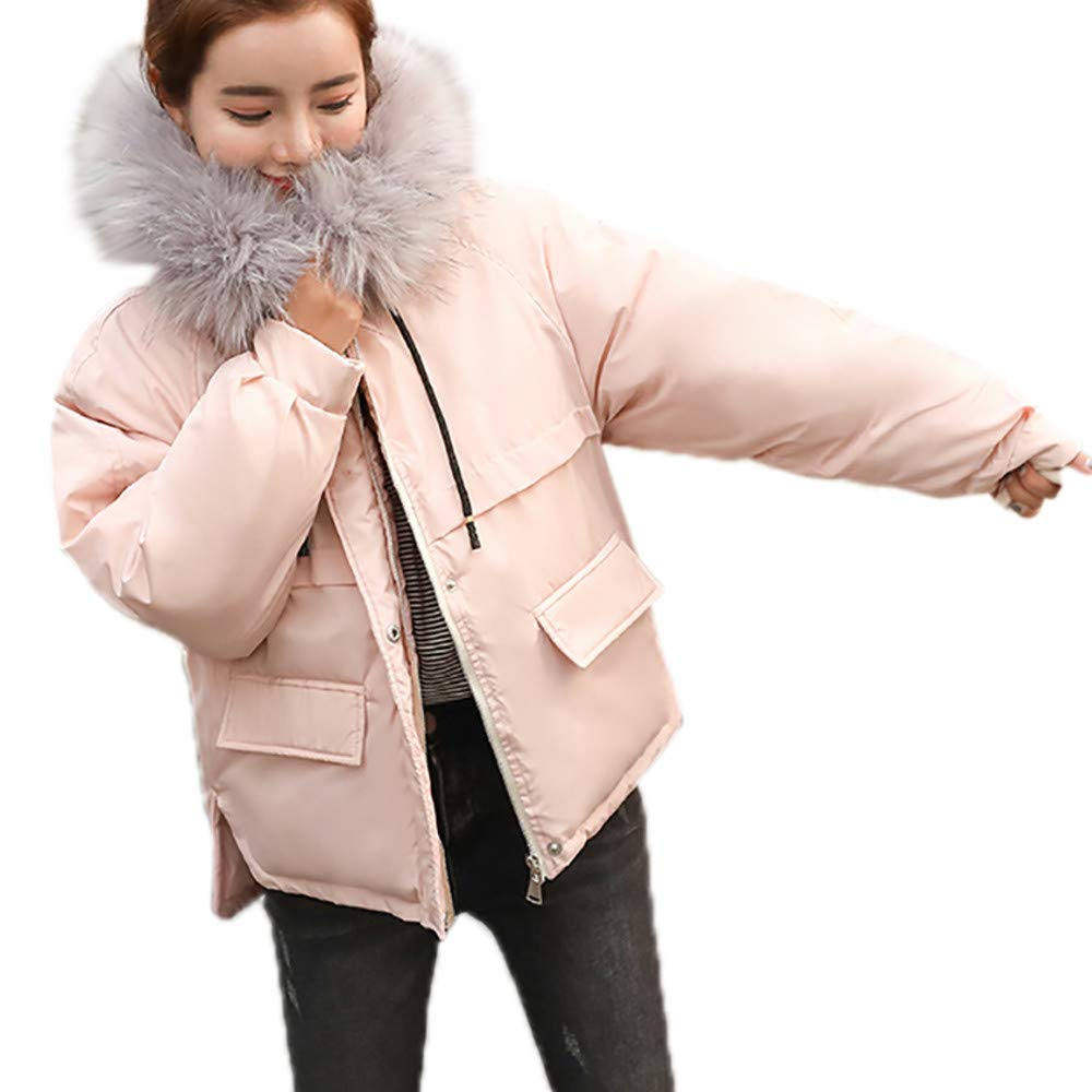 PENATE Women's Down Jackets Winter Warm Loose Thicker Hooded Cotton Coat Outfit