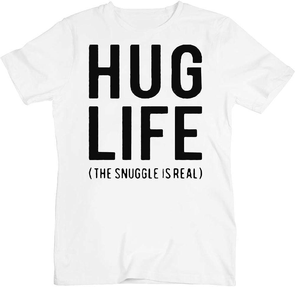 Amazon Com Hug Life The Snuggle Is Real Men S T Shirt Clothing