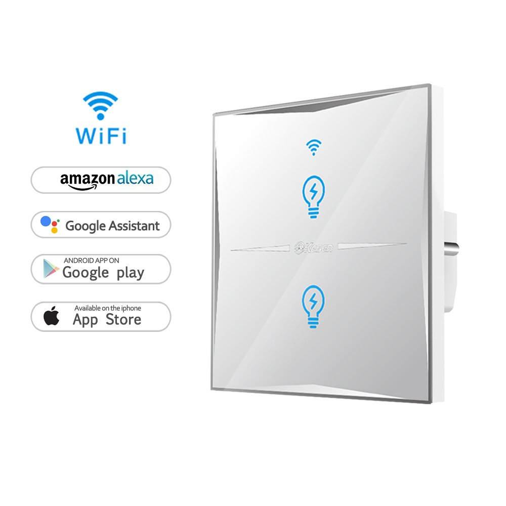 Wifi Smart Lichtschalter, WLAN In-Wall gehärtetes: Amazon.de: Elektronik
