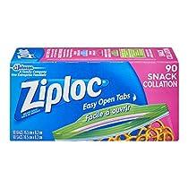 Ziploc Snack Bags, Easy Open Tabs, 90-Count