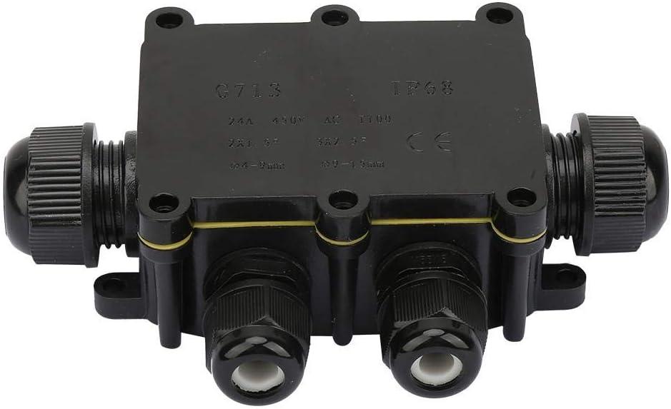 caja de conexiones el/éctricas a prueba de agua Caja de conexiones de dos v/ías//tres//cuatro v/ías para equipos impermeables al aire libre L/ámpara Four-way Caja de conexiones de cables