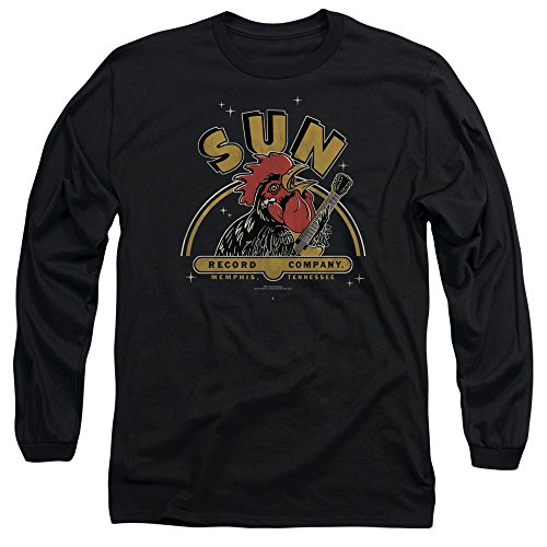 Sun Records Media Company Record Label Rocking Rooster Adult Long Sleeve T-Shirt -