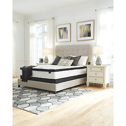 Signature Design by Ashley Chime by Ashley - 12 Inch Chime Express Hybrid Innerspring Mattress - Bed in a Box - Queen Size - White