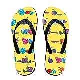 Couple Flip Flops Snail Cute Pattern Print Chic Sandals Slipper Rubber Non-Slip House Thong Slippers