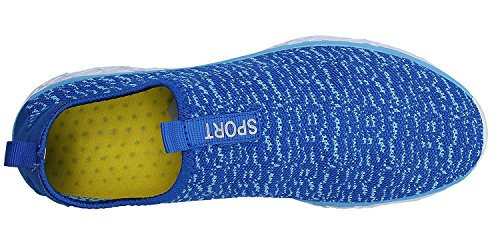 puuyfun Womens Slip On Aqua Water Shoes Lightweight Breathable Walking Shoes Royal Blue EuNszpFI