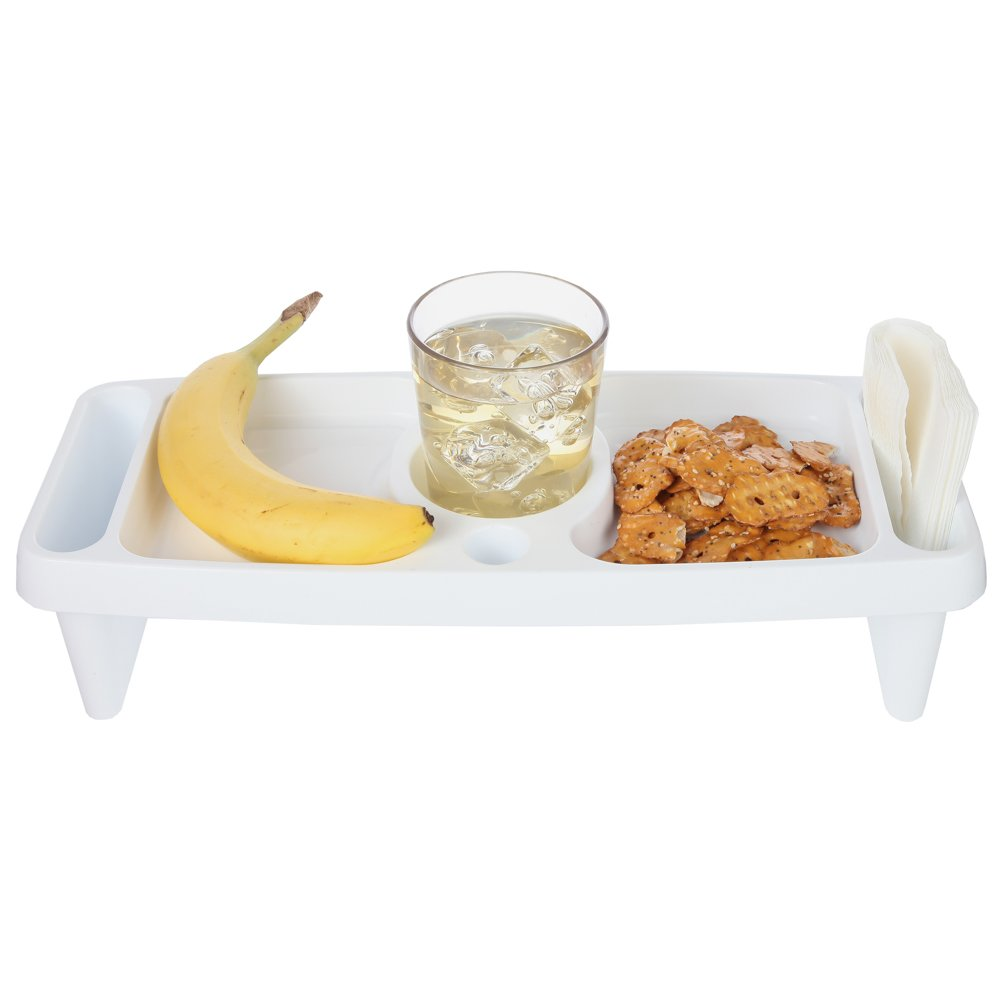 Home-X - Compact Lap Food Tray, Perfect for Convenient Snacking Around the House or While Watching TV, Easy to Clean Polypropylene Design Makes this a Must Own Serving Tray
