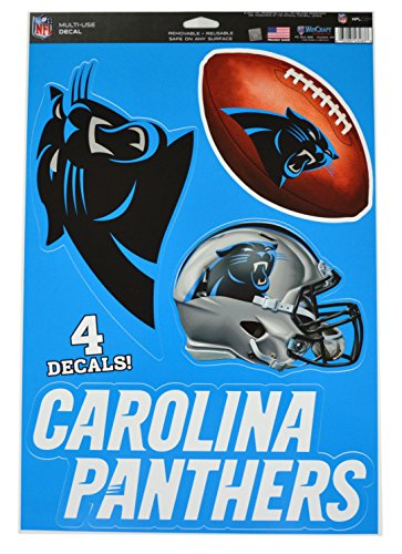 Official National Football League Fan Shop Licensed NFL Shop Multi-use Decals (Carolina Panthers)