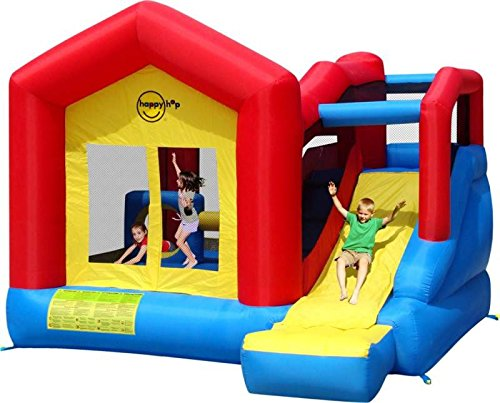 Bouncy Castle and Inflatable Slide - Climb and Slide - 13ft - Happy Hop