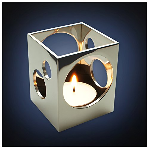 ArtsOnDesk Modern Art Candle Holder Mr113 Stainless Steel Mirror Polish Patent Applied for -- Tea Light Holder Stand Case Home Deco Restaurant Bar Aromatherapy Spa Party Wedding Votive Garden Gift Tealight Holder Case