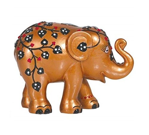 Westland Giftware Elephant Parade Resin Figurine in Tin Window Box, 4-Inch, Pretty and Pink