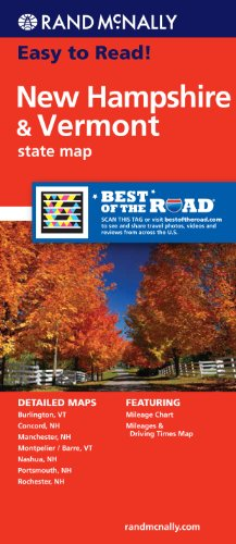 Rand McNally Easy To Read: New Hampshire, Vermont