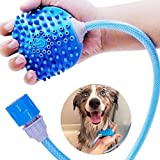 Bennies World Pet Shower Massage Tool - Bathing Sprayer and Scrubber for Dogs Cats and Horses - Adjustable Fit