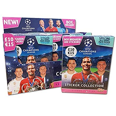 Topps UEFA Champions League Season 2020-20 Official Album + 5 Packs of 5 Stickers (25 in Total), Colour (C2S-AP5013): Toys & Games