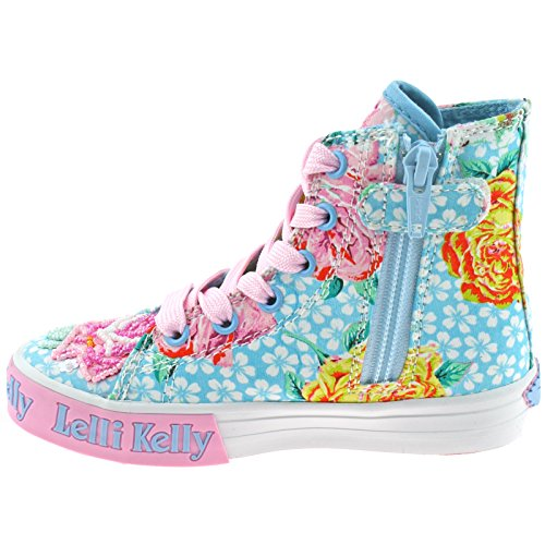 Lelli Kelly LK4090 (BF02) Light Blue Fantasy Rosie Baseball Boots -35 (UK 2.5)