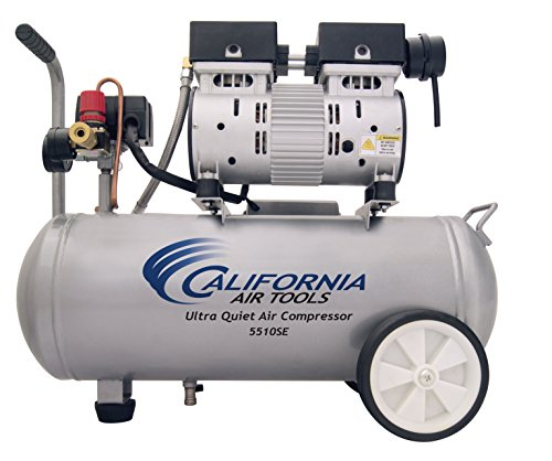 California Air Tools 5510SE Ultra Quiet and Oil-Free 1.0-HP 5.5-Gallon