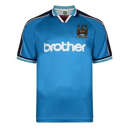 Score Draw Manchester City 1998 Home Shirt: Amazon.es: Deportes y ...
