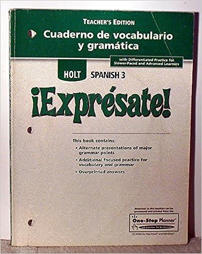 Amazon Com Expresate Cuaderno De Vocabulario Y Gramatica