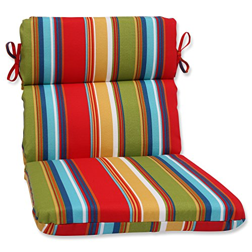 Cheap Pillow Perfect Outdoor Westport Garden Rounded Corners Chair Cushion, Multicolored